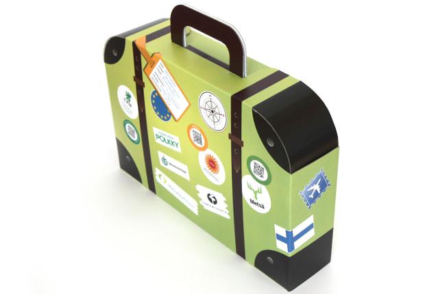 Paperboard briefcase.