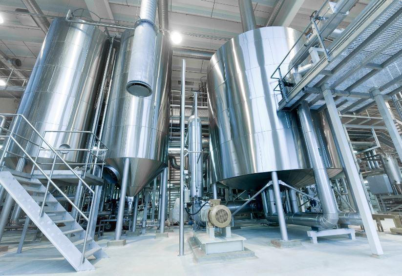 Baljor på filtreringsområdet för öl.
