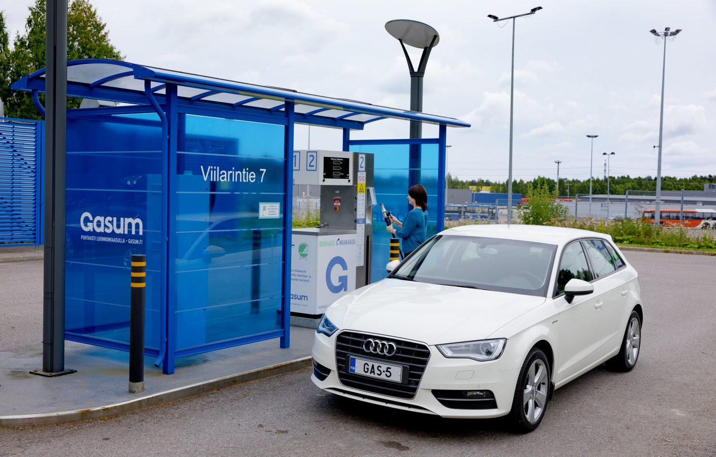 Gasum biogas station.